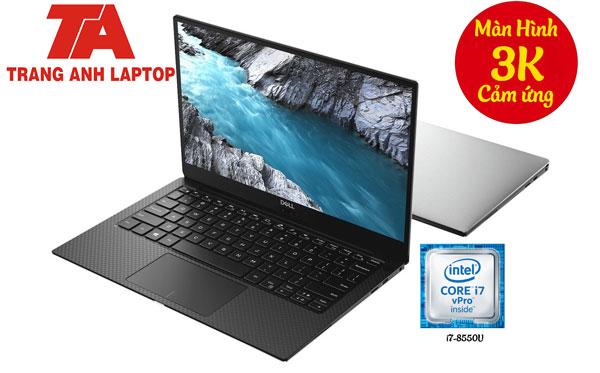 Siêu phẩm Dell XPS 13 9360 i7-8550U/Ram 8G/ SSD256/ màn UHD 3k Cảm Ứng